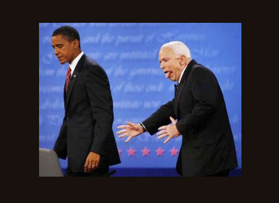 McCain goes crazy for Obama