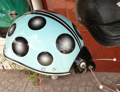 Blue bug helmet for child or very misguided adult