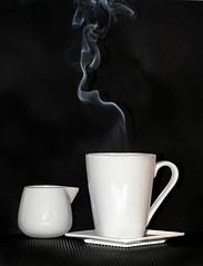smoking hot coffe (sbv033 / FYRIRMYNDIR) Tags: hot smoke smoking coffe tee steaming mywinners impressedbeauty