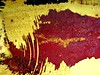 Lips (Clairette Paquette) Tags: red colors yellow jaune rouge rust decay montreal couleurs abstracts rouille abstraits