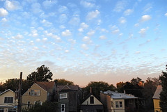 Signals (pantagrapher) Tags: autumn chicago clouds back gbrearview view dusk porch theview chicagoist northcenter
