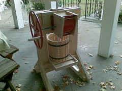 The cider press on the back porch