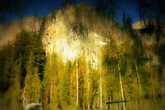 Reflection (Arunas S) Tags: california wood trees sunset sunlight colour reflection tree water landscape evening view sundown calm yosemite yosemitenationalpark tranquillity yosemitenp arunas sonydscr1 goldnblue
