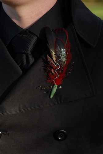 really cool DIY boutonniere