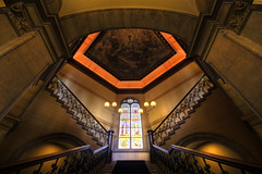 Symmetry ((Erik)) Tags: roof light stairs painting utrecht entrance symmetry ceiling academiegebouw hdr sigma1020mm 10mm 5xp utrawideangle dddboostertag