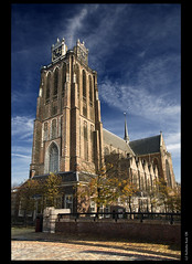 'Grote Kerk' at Dordrecht (B'Rob) Tags: travel blue cloud streetart holland color tower art tourism netherlands azul architecture photography photo yahoo google nikon flickr picture tourist colores explore cielo dordrecht wikipedia holanda tradicin d300 18200mm brob explored brobphoto