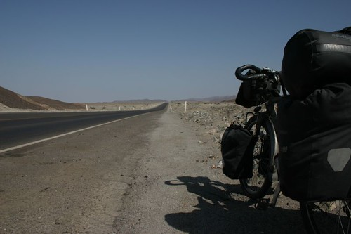 In Nazca and ready for the Panamerica Hwy...