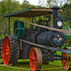 CA177 Case Steam Traction Engine (listentoreason) Tags: usa tractor industry america canon newjersey unitedstates engineering places case steam transportation agriculture ef28135mmf3556isusm score40 howellfarm howelllivinghistoryfarm casesteamtractionengine