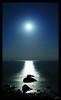 Once in a Blue Moon (Kuzeytac) Tags: longexposure travel light sea sky moon seascape black color colour reflection nature wet stone glitter night turkey skyscape twilight scenery view bright horizon türkiye turkiye aegean twinkle scene explore moonlit chapeau lonely leyla assos hava gökyüzü gece manzara turchia lsi yansıma turkei ışık renk akşam doğa tabiat siyah çanakkale lacivert parıltı canoneos400d canoneosdigitalrebelxti ayvacık pırıltı kuzeytac copyrightedallrightsreserved aqualityonlyclub