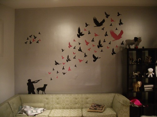 living roon wall mural