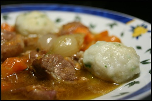 3065543236 a5371aa0b1 Irish Stew (Ragoût dagneaux et dumplings)   Sorbet citron au mascarpone