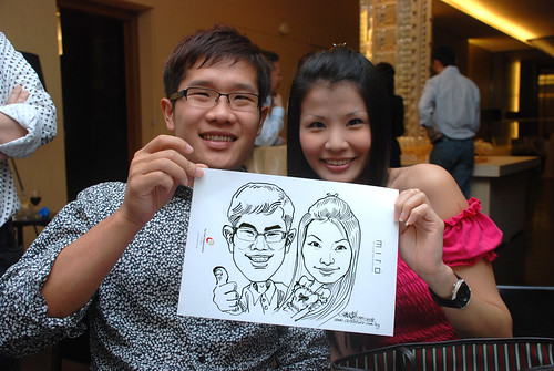Caricature live sketching for Far East Organisation SPH Media Night The Miro 13
