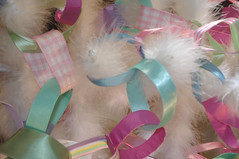 Ribbon Garland (such pretty things) Tags: christmas pink decorations tree vintage aqua pastel stripes feather garland chain ribbon