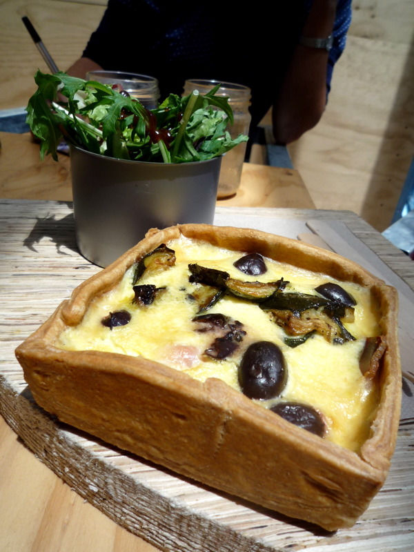 Greenhouse quiche and salad