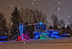 Christmas With the Snow! (Fort Photo) Tags: christmas xmas winter holiday snow cold home weather night festive landscape lights colorado holidays jeep fort snowstorm fortcollins christmaslights led co firstsnow 2008 collins soe brrr mywinners wenowhave6inches