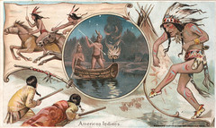 Arbuckle Bros. (Miami U. Libraries - Digital Collections) Tags: costumes horses animals dance fishing dancers canoes horsebackriding headdresses indigenouspeoples clothingd