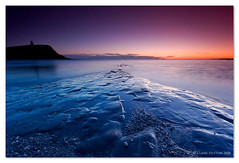 (Claire Hutton) Tags: uk longexposure sunset sea england cliff cold southwest tower water silhouette misty coast south dorset lowtide kimmeridge purbecks jurassiccoast clavelltower isleofpurbeck