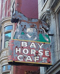 OH Cincinnati - Bay Horse Cafe (scottamus) Tags: old ohio horse sign vintage bay cafe neon cincinnati ghost hamiltoncounty