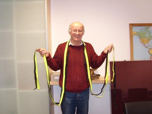 Erhard mit seinen Bändern