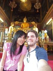Som & Cody in Koh Kret temple chapel (Cody McKibben) Tags: onsite kohkret codymckibben sommuangya