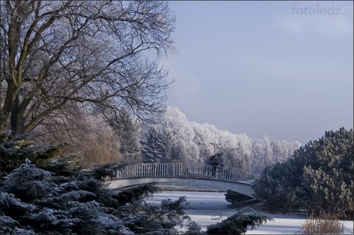 Mostek w Parku Poniatowskiego w Łodzi