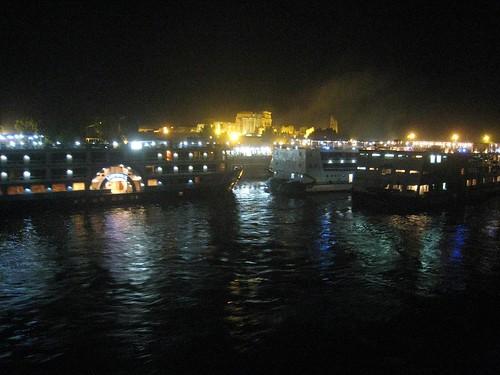 Cruise ships docked at Kom Ombo