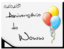 Banner aniversário Woww Balão