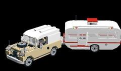 Landrover 90 Series II plus Caravan