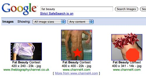 Google Safe Image Search, Not Safe