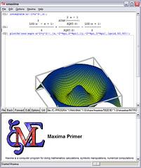 Maxima ile çizilmiş bir grafik