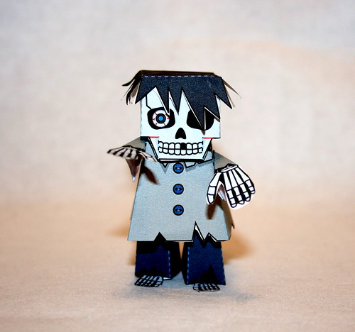 Rupert the paper skeleton zombie