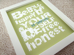 Be Inspired (monkeymindesign) Tags: green art print typography handmade turquoise teal sage 8x10 honest homedecor beyourself behappy beinspired papergoods monkeyminddesign