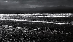 Winter stormy sea, Inch Strand, Co Kerry, Ireland (2c..) Tags: ireland sea sky mountains film water landscape flickr kerry best 2c nikormat 72dpipreview ©lowresolutionpreview