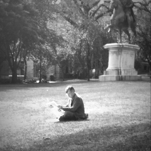 Reading on Lincoln Field