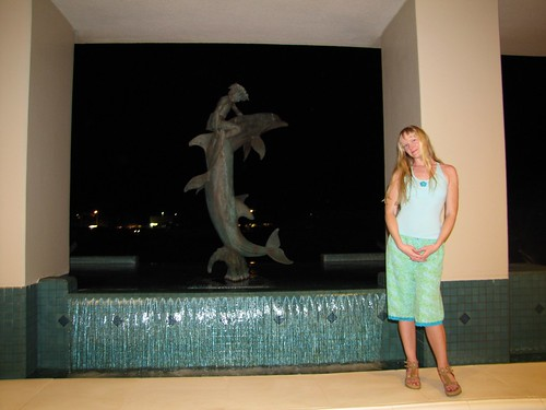 liz and the dolphin fountain
