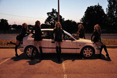 Kats x 5 (Rainer Kerov) Tags: girls girl honda civic 1998 ek ej