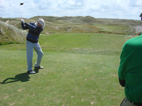 Erik Tees Off at Ballybunion Old