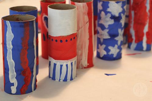 painted cardboard tubes