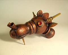 Large Wood Steampunk Robot Dragon Head Ruby Eyes (Builders Studio) Tags: castle saint fire arthur george king dragon head medieval steam lizard copper knight horn ruby camelot breathing