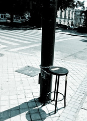 A lonely stool