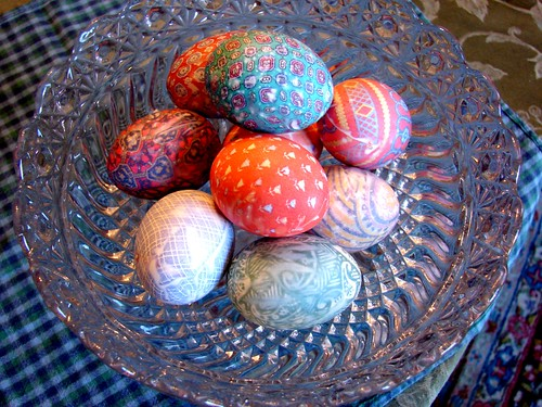 Easter Eggs all in bowl