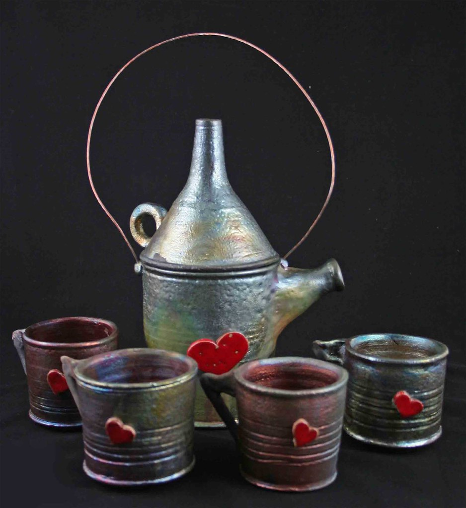 Tin man's tin can teaset