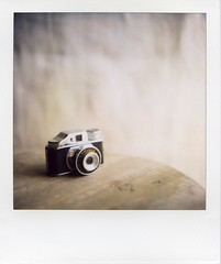 do you enjoy photo life? (*shinobu) Tags: camera polaroid slr680 borrowedcamera takatsuki 600film enjoyphotolife smalloldtoycamera about5cmx3cm itsnotmycamera