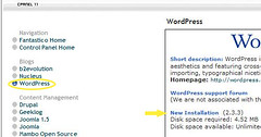 wordpress fantastico (blogbasics) Tags: