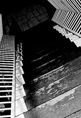 Well used steps ([ Kane ]) Tags: blackandwhite art stairs steps australia qld kane railing gledhill kanegledhill humanhabits wwwhumanhabitscomau kanegledhillphotography