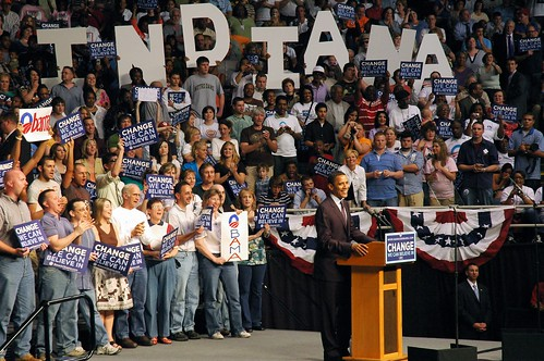 Barack Obama Rally - Evansville, Indiana by Crumblin Down.