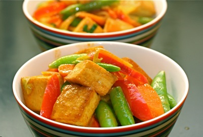 golden tofu red curry
