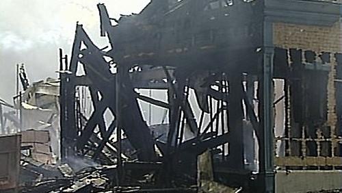 Universal Studios edificio quemado