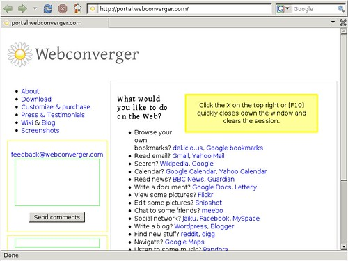 Webconverger Three point oh