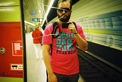 u bahn (lomokev) Tags: pink portrait selfportrait me fashion shirt germany underground subway munich mnchen beard bavaria graffiti mirror cool lomo lca lomography track kodak kodakportra400vc tshirt tunnel shades lomolca tiles trainstation ubahn scratch portra firehose lomograph lomokev stachus karlsplatz kodakportra400 kodakportra coolasfuck tocoolforschool flickr:user=lomokev flickr:nsid=40962351n00 ubahnmuenchen:station=ka ubahnmuenchen:line=5 ubahnmuenchen:line=4 file:name=080623lomolca400asa051ps roll:name=080623lomolca400asa